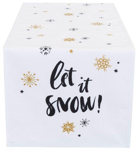 CASATEX Tischläufer »Let it snow« (1-tlg)