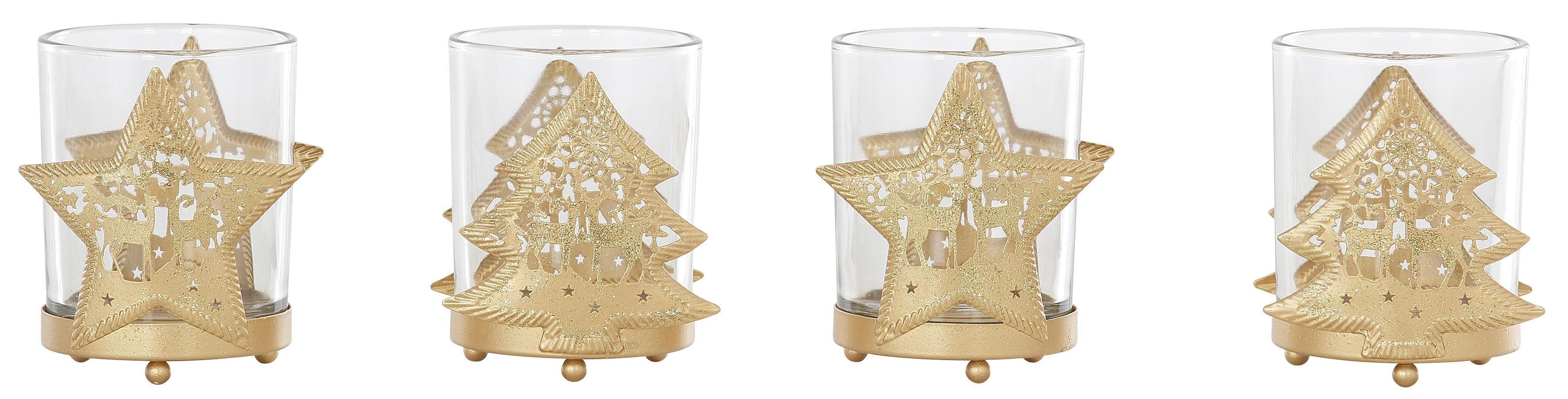 Inge-Glas LED Teelichthalter, 4er-Set