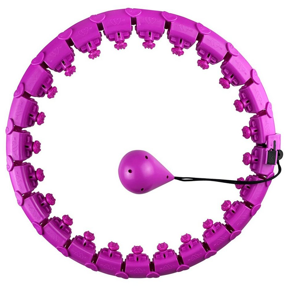 SmartHula Hoops Reifen Einstellbar Massagenoppen Bauchtrainer Weihnachtsgeschenk