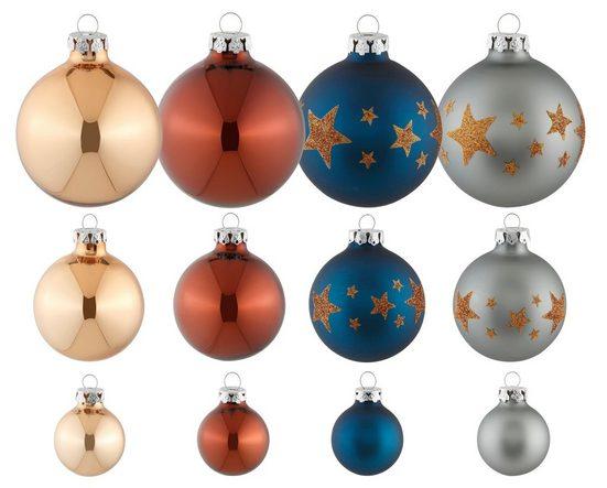 Thüringer Glasdesign Weihnachtsbaumkugel »Modern Rich« (30 Stück), mundgeblasen