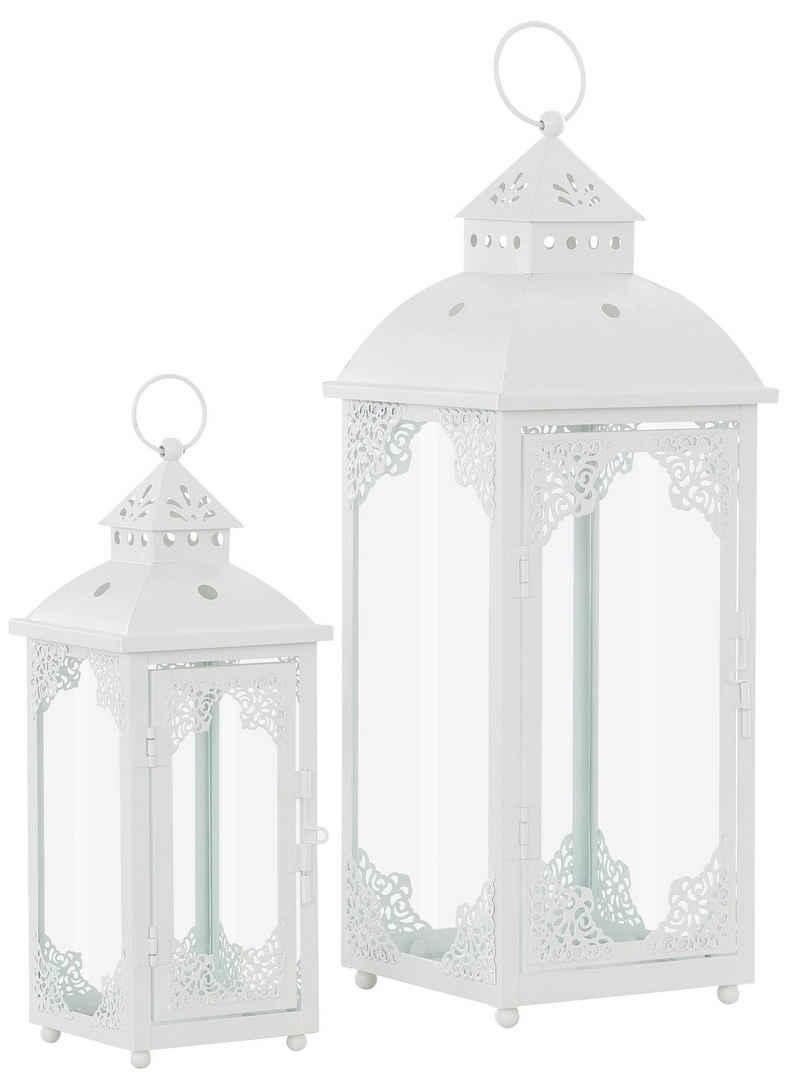 Home affaire Kerzenlaterne (Set, 2 Stück), mit filigranen Ornamenten