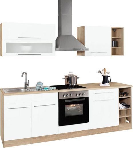 HELD MÖBEL Küchenzeile »Eton«, mit E-Geräten, Breite 240 cm