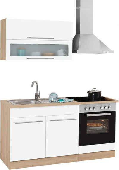 HELD MÖBEL Küchenzeile »Eton«, mit E-Geräten, Breite 160 cm