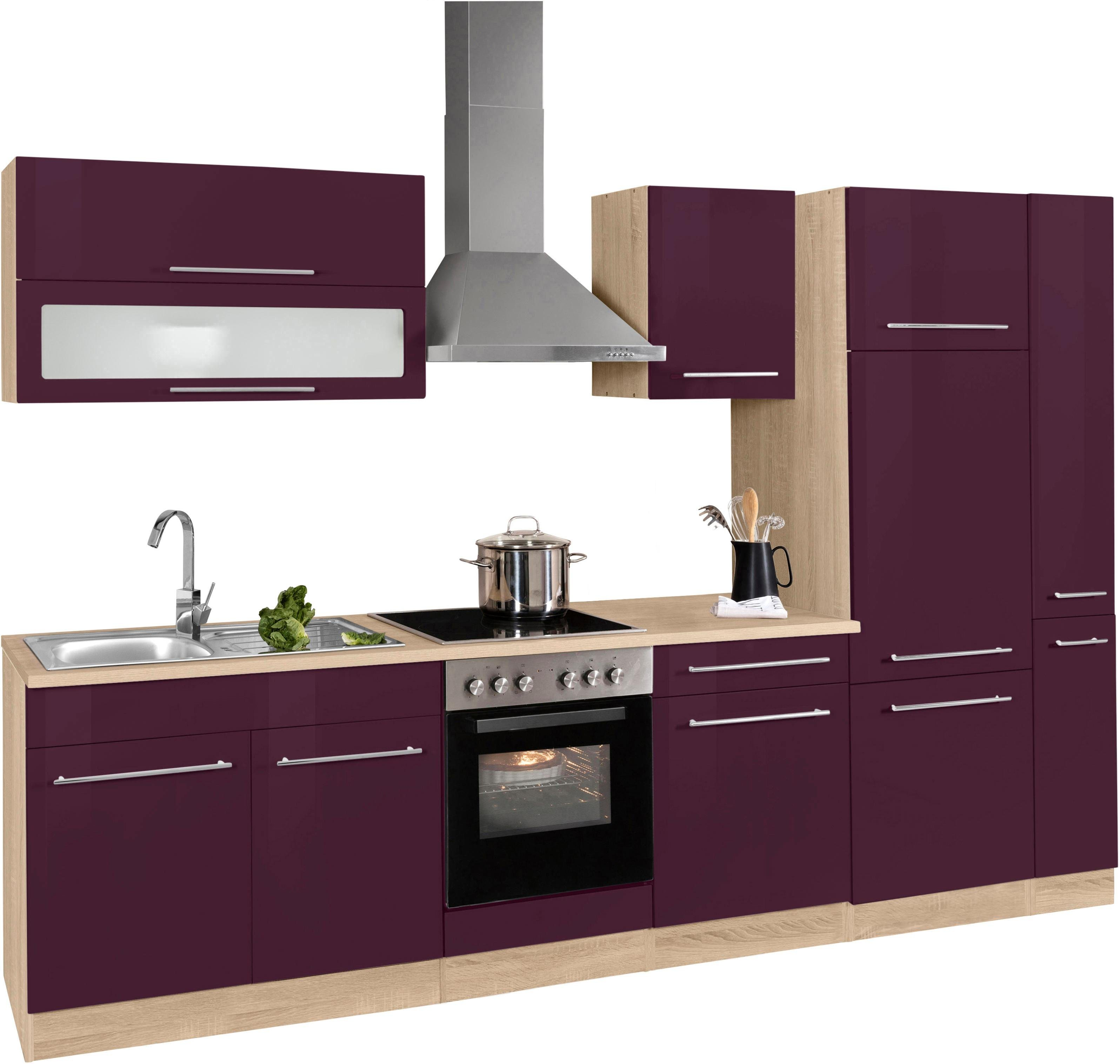 gunstige kuchenblocke mit elektrogeraten kuche kaufen 300 cm