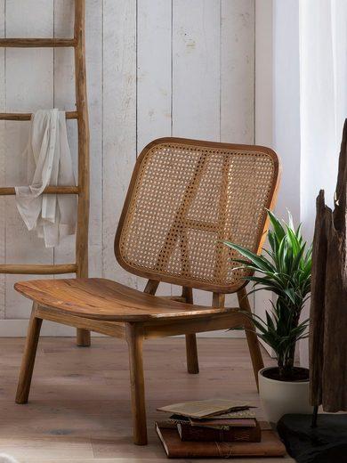 SIT Rattanstuhl, mit Wiener Geflecht, moderner Lounge chair für alle Räume geeignet
