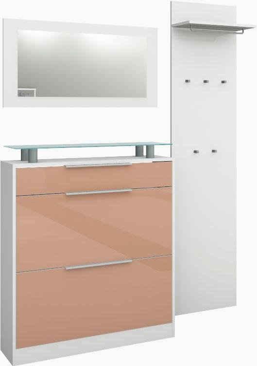 borchardt Möbel Garderoben-Set »Olivia«, (Set, 3-St), (3-tlg), stehender Schuhschrank