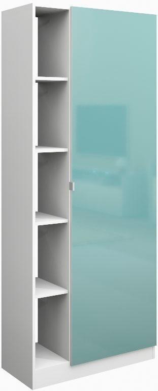 Borchardt Möbel Garderobenschrank »Dolly« mit 5 offenen Fächern und Metallgriffen | Flur & Diele > Garderoben > Garderobenschränke | Weiß - Schwarz - Mint | Melamin | borchardt Möbel