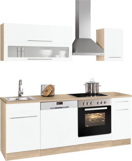 HELD MÖBEL Küchenzeile »Eton«, mit E-Geräten, Breite 210 cm