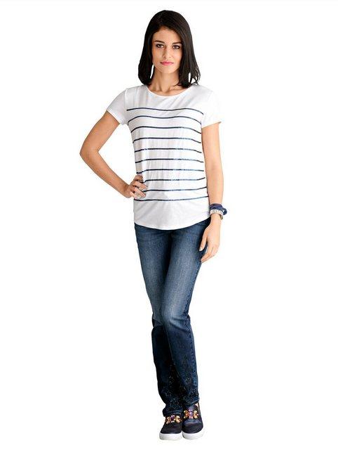 Hosen - Alba Moda Jeans mit Stickerei › blau  - Onlineshop OTTO