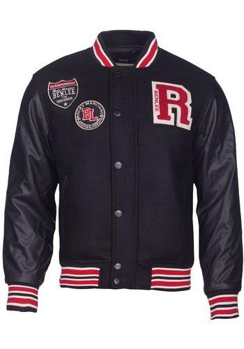 Herren Benlee Rocky Marciano Baseball-Jacke FRANCIS schwarz | 04250819112814