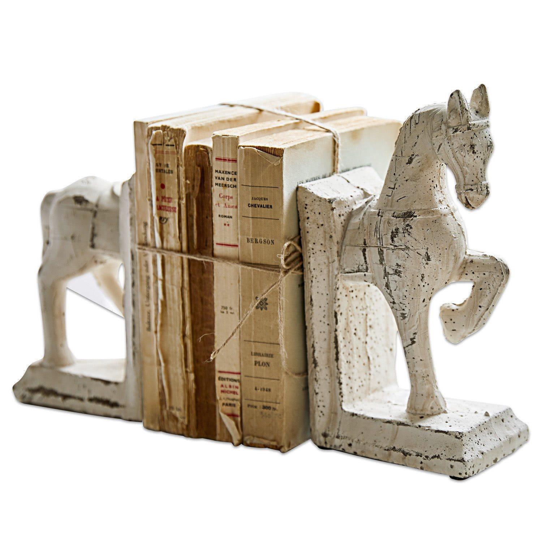 Loberon Buchstütze 2er Set »Horses« | Wohnzimmer > Regale > Hängeregale | Terrakotta | Loberon