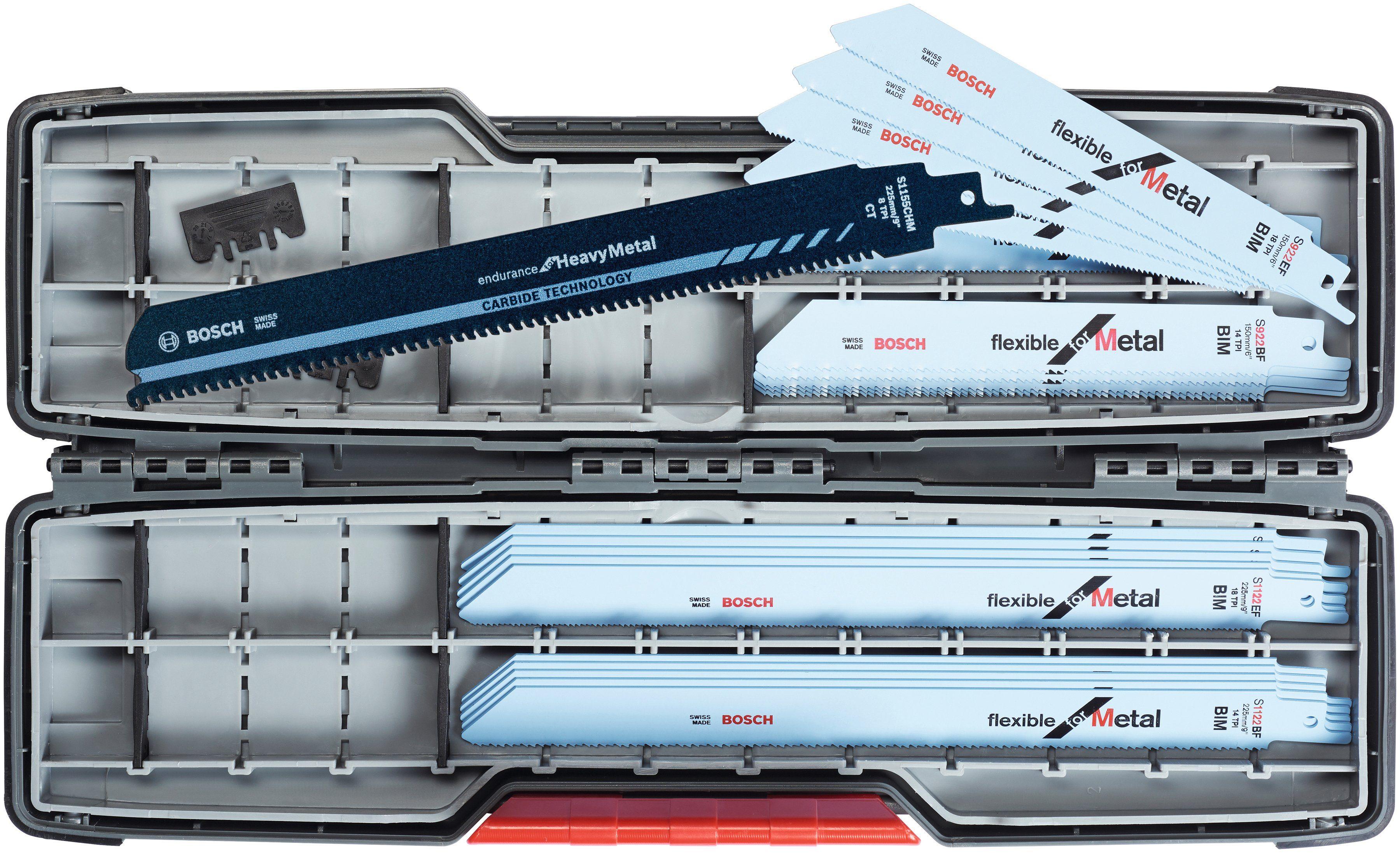 BOSCH Set: Sägeblatt »SSB ToughBox«, 20 tlg. Inkl. Carbide Säbelsägeblatt