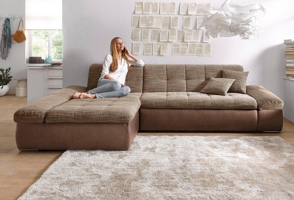 domo collection ecksofa wahlweise mit bettfunktion und. Black Bedroom Furniture Sets. Home Design Ideas