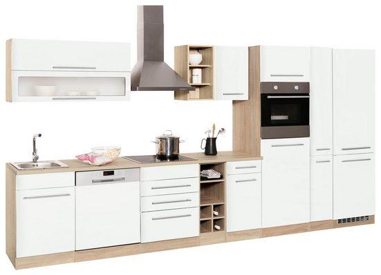 HELD MÖBEL Küchenzeile »Eton«, mit E-Geräten, Breite 390 cm