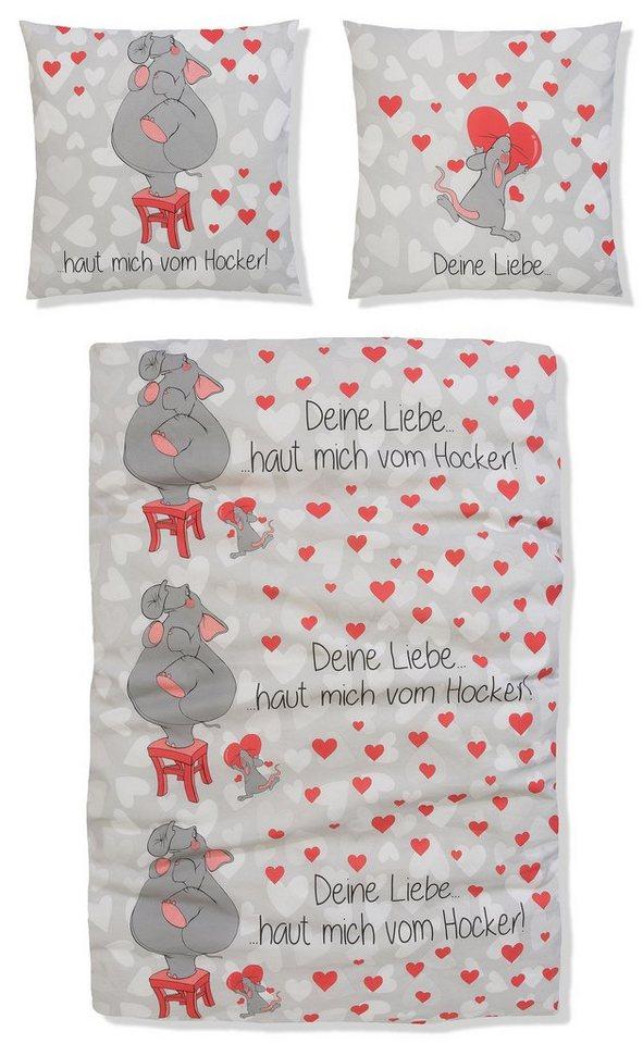 Bettwäsche Maren My Home Mit Elefanten Und Herzen Online Kaufen
