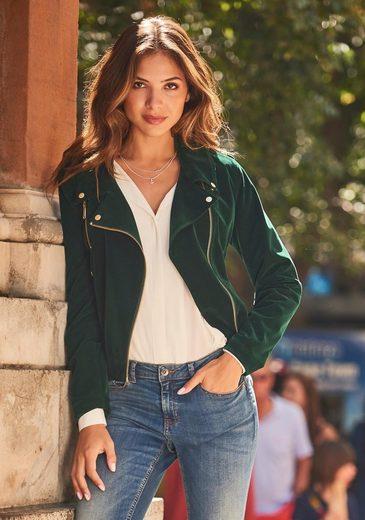 »aurine B Details Velvet young Goldfarbenen Jacket« Bikerjacke Mit EEqZF6r