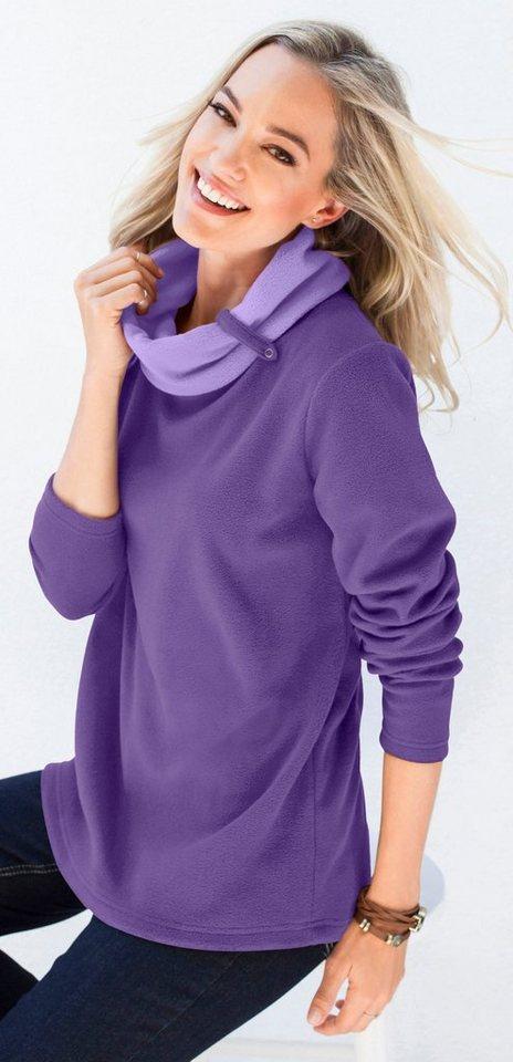Classic Basics Fleece-Shirt zum Reinkuscheln | Bekleidung > Sweatshirts & -jacken > Fleeceshirts | Lila | Classic Basics