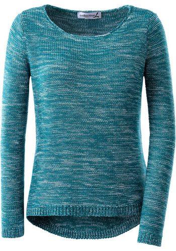 Damen Collection L. Pullover, hinten länger geschnitten grün | 08854965096446