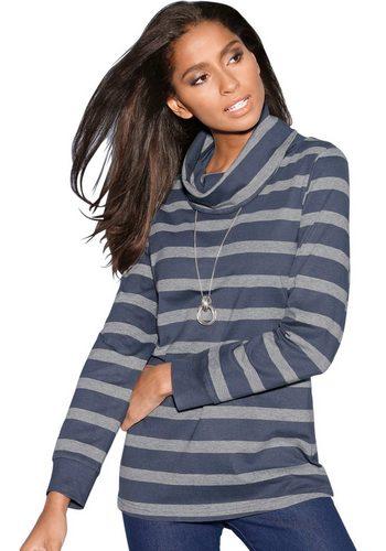 Damen Classic Basics Shirt mit Ringel blau | 08906097248092