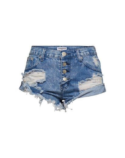 Glamorous Jeanshotpants »KA4527« Fransensaum