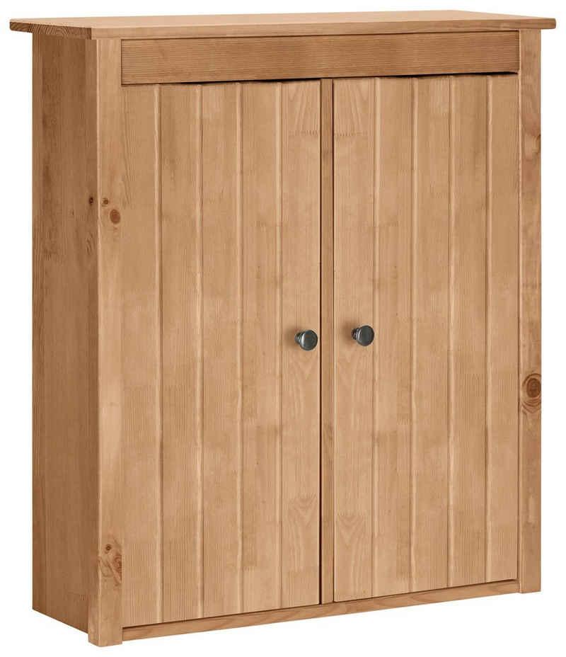 Home affaire Hängeschrank »Westa« Breite 62 cm, Badezimmerschrank aus Massivholz, Kiefernholz, Metallgrife, 2 Türen, viel Stauraum