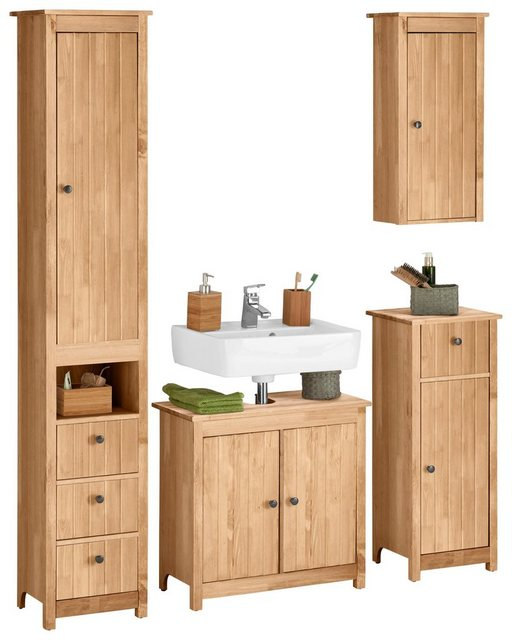 Badezimmer Sets - Home affaire Badmöbel Set »Westa«, (Set, 4 tlg)  - Onlineshop OTTO