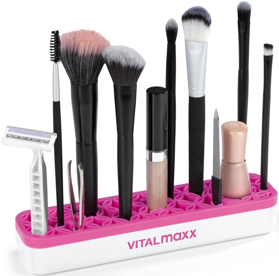 Vitalmaxx, »Make-Up Organizer«, weiß/pink (2-tlg.)