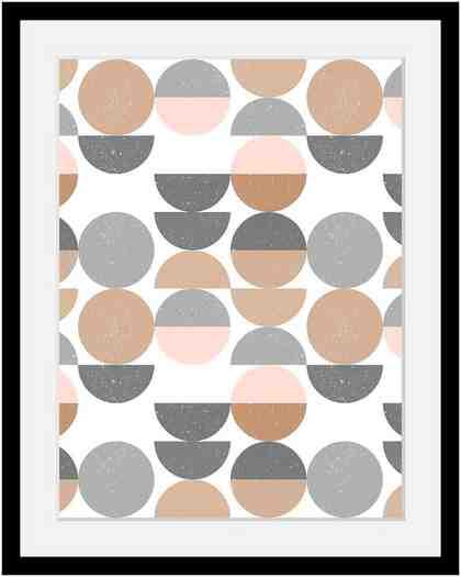 Bild mit Rahmen »Punkte« in 3 Größen