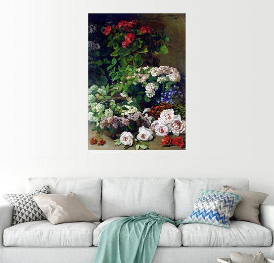 Posterlounge Wandbild - Claude Monet »Frühlingsblumen«