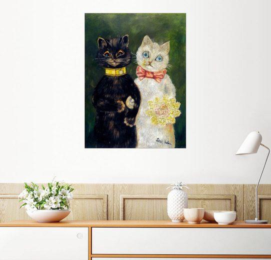 Posterlounge Wandbild - Louis Wain »Katzenhochzeit«