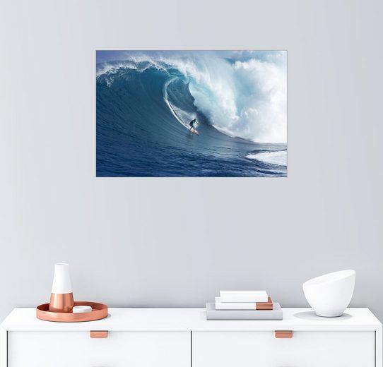 Posterlounge Wandbild - Ron Dahlquist »Riesige Welle vor Maui«