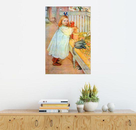 Posterlounge Wandbild - Carl Larsson »Birgit liebt die Kunst«