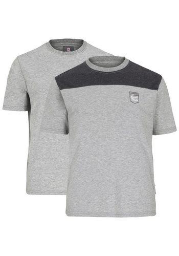 Herren Jan Vanderstorm T-Shirt Set: DOLF (Packung 2er-Pack) grau | 04056916260744