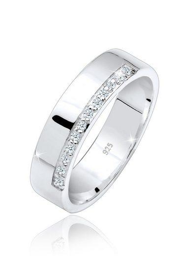 Elli Diamantring »Bandring Basic Diamanten (0.06 ct) 925 Silber«