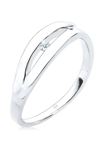Diamore Diamantring »Klassisch Verlobung Diamant 0.03 ct. 925 Silber«
