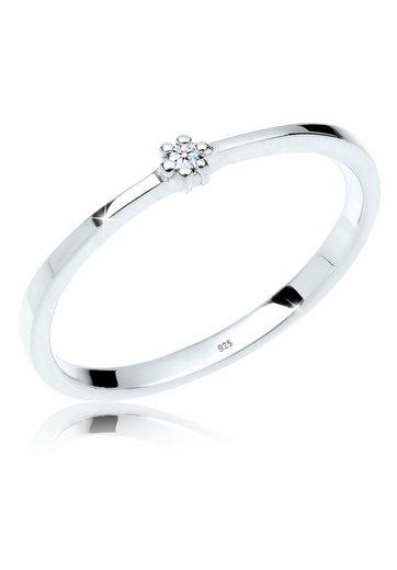 Diamore Diamantring »Verlobungsring Diamant 925er Sterling Silber«