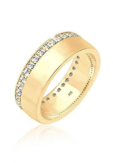 Elli Ring »Basic Swarovski® Kristalle 925 Silber vergoldet«