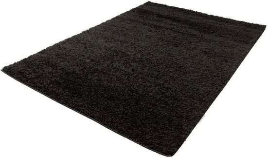 Hochflor-Teppich »Shaggi uni 500«, Carpet City, rechteckig, Höhe 30 mm