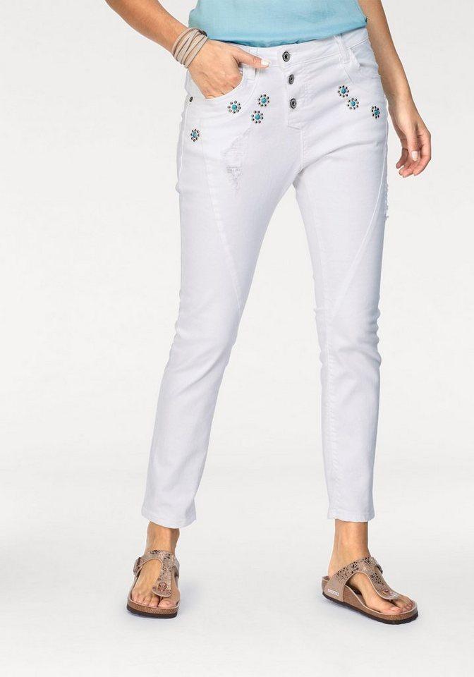 5c5c335a13f4 Please Jeans Boyfriend-Jeans »P78A« mit Steinverzierung online ...