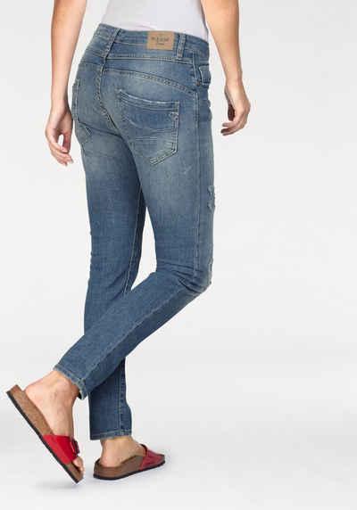 Please Jeans Boyfriend-Jeans »P78A« mit Galon-Streifen e74bf3afdc