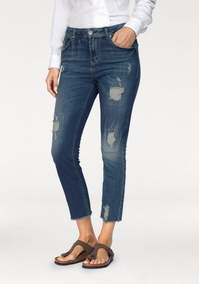 IMP by IMPERIAL Destroyed-Jeans offene Fransenkante | Bekleidung > Jeans > Destroyed Jeans | Blau | Denim | IMP by IMPERIAL