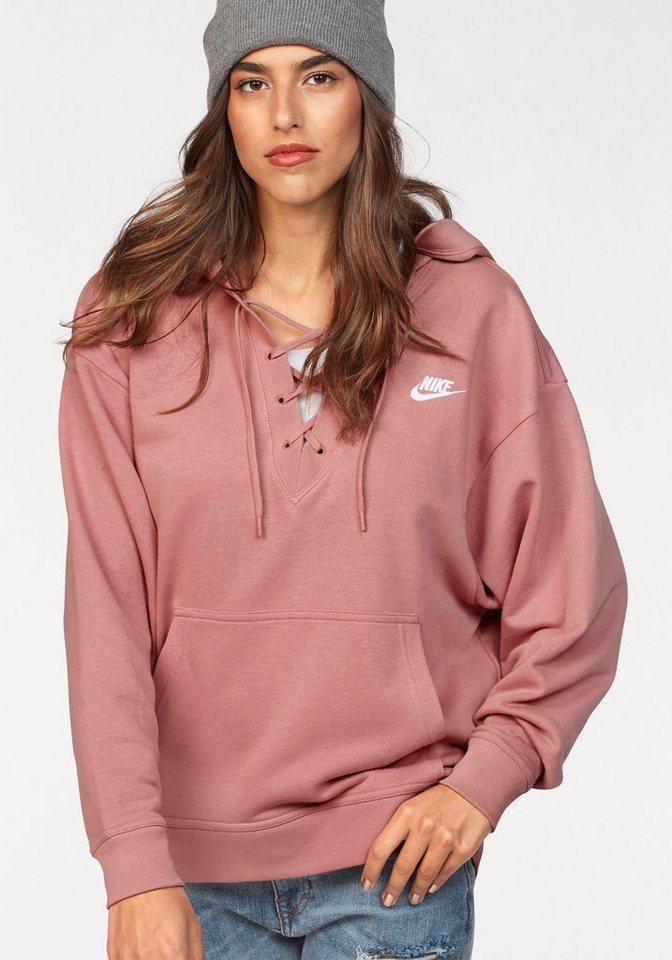 ce8367fd7374 Nike Sportswear Kapuzensweatshirt »W NSW CLUB HOODIE LACEUP« online ...