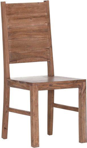 Gutmann Factory 4-Fußstuhl »Timber« im 2er-Set aus massivem Akazienholz