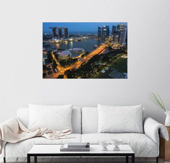 Posterlounge Wandbild - Gabrielle & Michel Therin-Weise »Marina Bay Hotel«