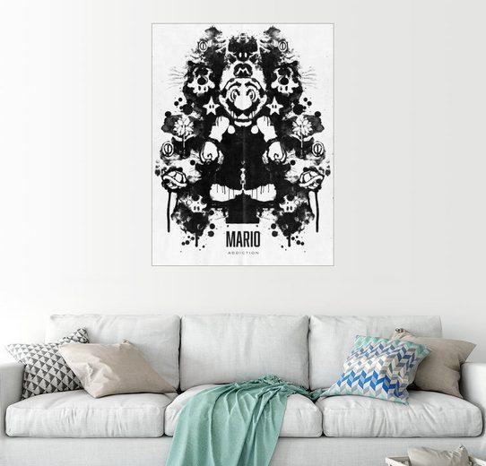 Posterlounge Wandbild - Barrett Biggers »Mario Inkblot«