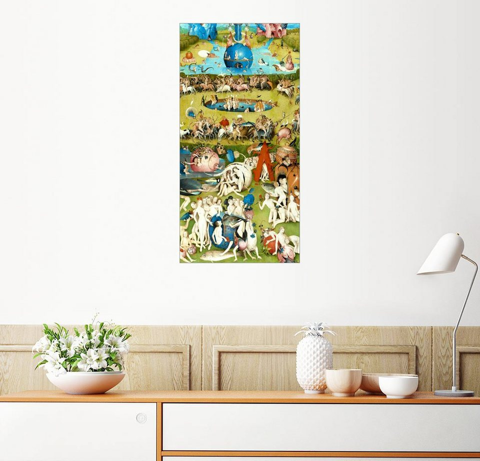 posterlounge wandbild hieronymus bosch garten der l ste menschheit vor der sintflut. Black Bedroom Furniture Sets. Home Design Ideas