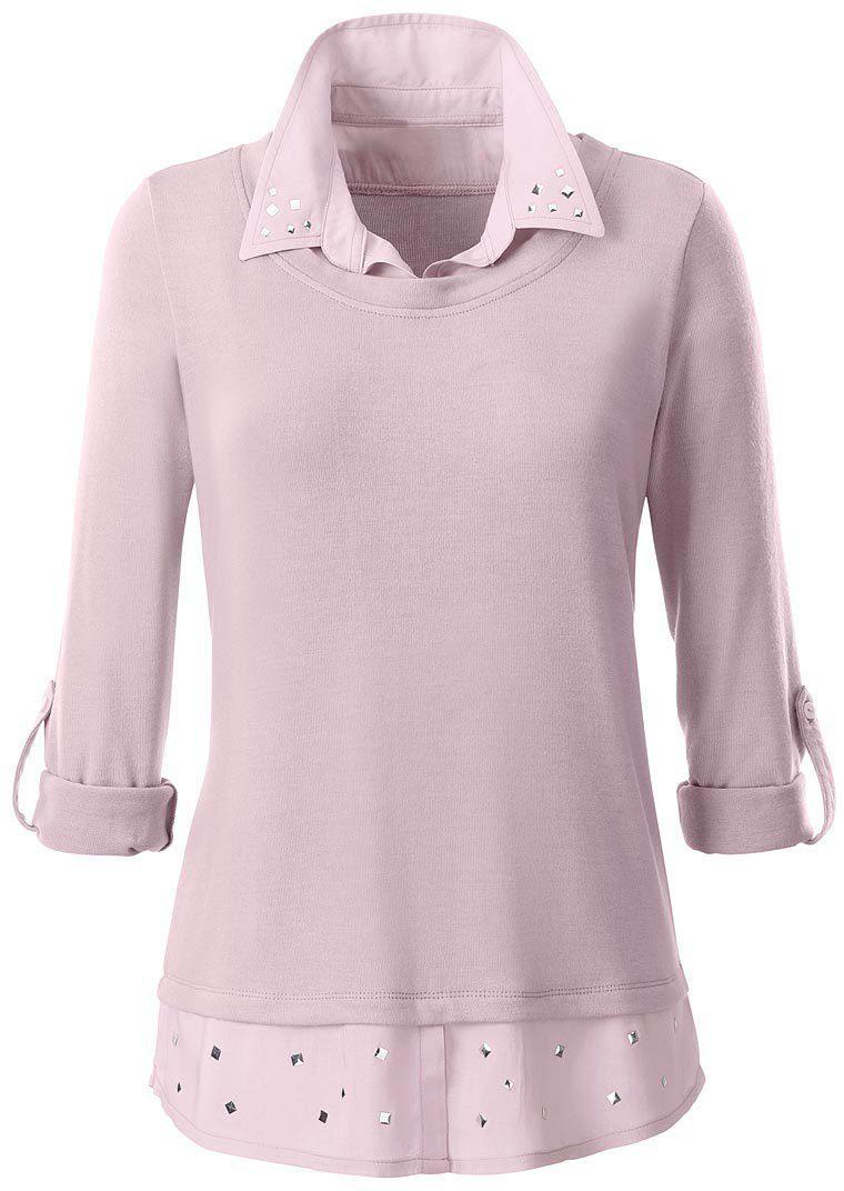 Ambria Longshirt in 2-in-1-Optik