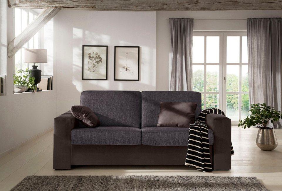 home affaire schlafsofa roma in 2 breiten mit echter matratze zum ausklappen online kaufen otto. Black Bedroom Furniture Sets. Home Design Ideas