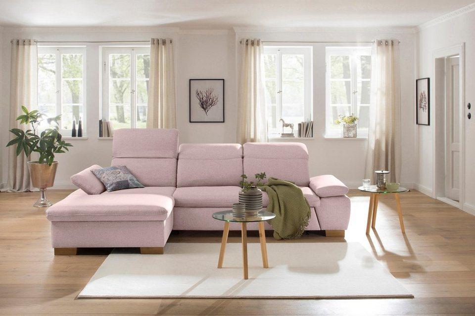 home affaire ecksofa maven mit recamiere kopfteil und armlehn verstellung federkern online. Black Bedroom Furniture Sets. Home Design Ideas