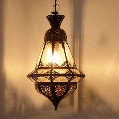 Casa Moro Deckenleuchte »Orientalische Pendelleuchte marokkanische Hängelampe Houta Klar H 52 cm, Kunsthandwerk aus Marokko 1001 Nacht, L1262«